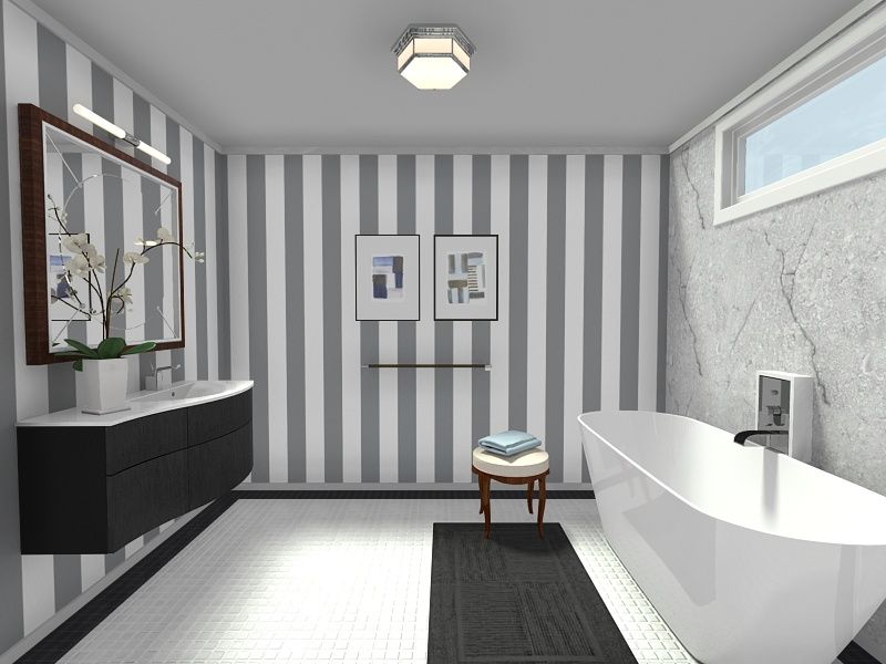 Bathroom wall and floor finishes web roomsketcher help for New latest bathroom designs