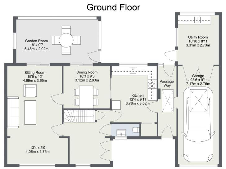 Display the area of a room web roomsketcher help center for Floor plan websites