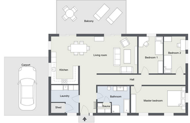 2d floor plans customize your floor plans roomsketcher for Bathroom 2d planner