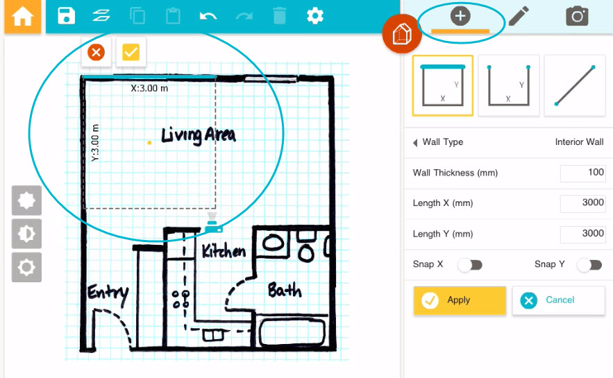 Draw a floor plan from a blueprint app roomsketcher Floor plan drawing apps