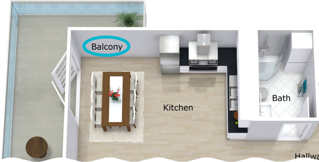 Display Room Names In Different Locations For 2d And 3d Floor Plans