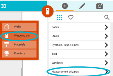 Measurement wizards add wall measurements room Room dimensions app