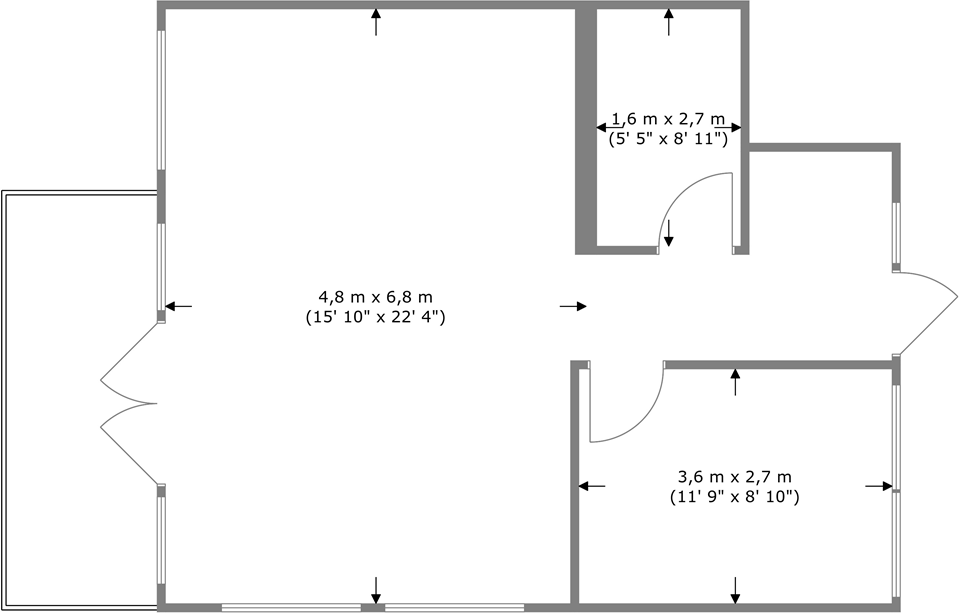 Overview measurements on floor plans app Room dimensions app