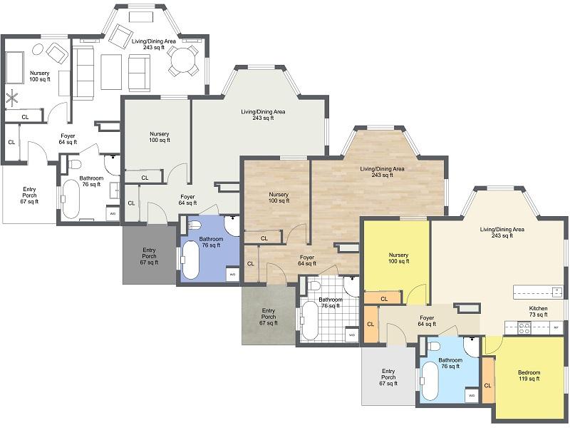 2D Floor Plans - Customize Your Floor Plans - RoomSketcher ...