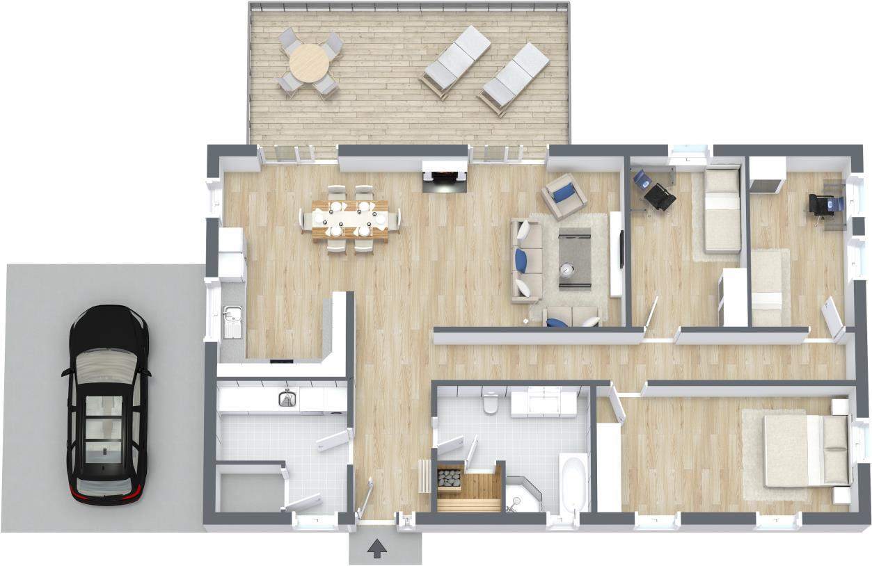 3d floor plans customize your floor plans roomsketcher - Wohnungseinrichtung planen ...