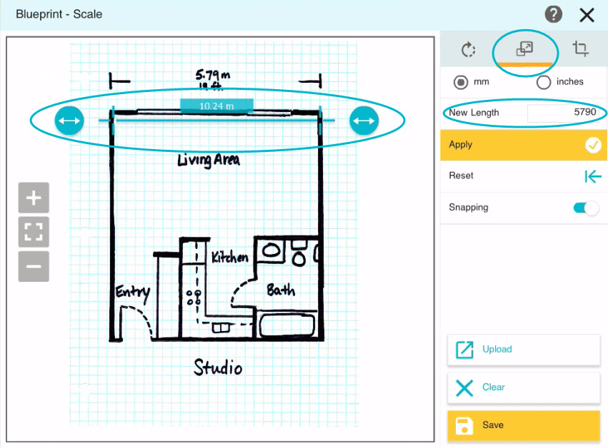 Draw a floor plan from a blueprint app roomsketcher help center field on the right malvernweather Image collections